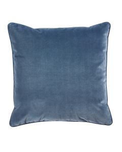 Harbor Velvet Decorative Throw Pillow with Self Pipe