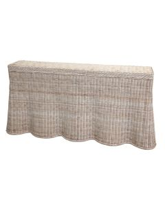 Harvested Rattan Scalloped Console Table - Available in a Variety of Colors - ON BACKORDER UNTIL MID-SEPTEMBER 2020