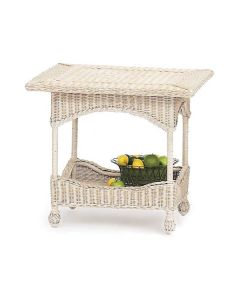 Harvested Rattan Wicker Center Accent Table - Available in a Variety of Colors
