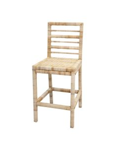 Harvested Rattan Wicker Counter Stool - Available in a Variety of Colors