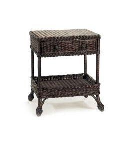 Harvested Rattan Wicker One Drawer End Table - Available in a Variety of Colors