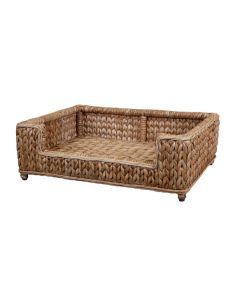 Harvested Rattan Wicker Sweater Weave Dog Bed
