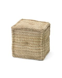 Natural Hemp Square Seating Pouf - CALL TO CONFIRM AVAILABILITY