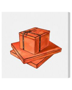 Hermes Gift Box Fashion Canvas Wall Art - Variety of Sizes Available