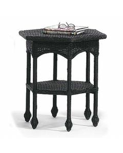 Hexagonal Wicker Side Table - Available in a Variety Colors