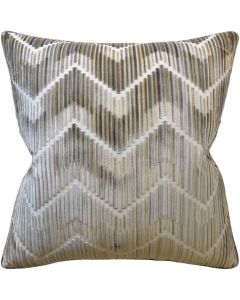 Hilo Truffle Tan Chevron Decorative Square Throw Pillow - Available in Two Sizes