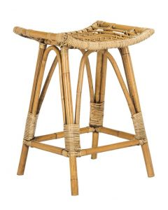 Honey Brown Contemporary Rattan Counter Stool - CALL TO CONFIRM AVAILABILITY