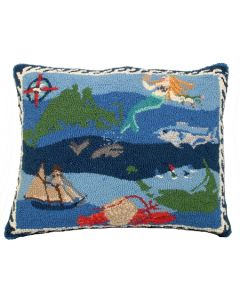 Hooked Wool Nantucket Pillow