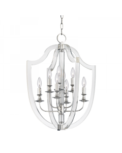 Hudson Valley Lighting Arietta Eight Light Acrylic Crest Chandelier - Available in Two Finishes