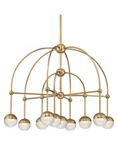 Hudson Valley Lighting Boca Modern Arch 10 Light Circle Orb Chandelier - Available in 2 Finishes