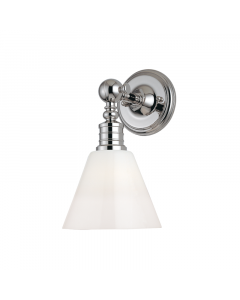 Hudson Valley Lighting Darien Cone Wall Sconce with Opal Glass White Diffuser  Available in Three Finishes