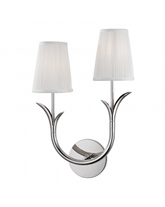 Hudson Valley Lighting Deering Two Light Left Stemmed Wall Sconce  Available in Three Finishes