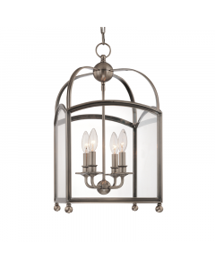 Hudson Valley Lighting Small Four Light Candelabra Glass Frame Pendant  Available in Four Finishes