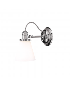 Hudson Valley Lighting Hadley One Light Wall Sconce with Glass Shade  Available in Three Finishes