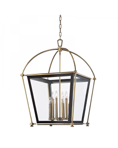 Hudson Valley Lighting Hollis Glass Lantern Candelabra Chandelier  Available in Two Finishes