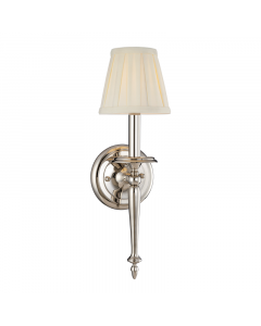 Hudson Valley Lighting Jefferson One Light Classic Heritage Wall Sconce with Pleated Shade  Available in Three Finishes