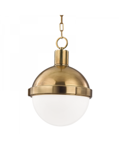 Hudson Valley Lighting Lambert Globe Hanging Pendant  Available in Three Sizes and Four Finishes