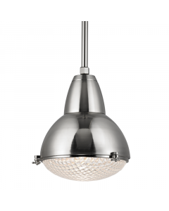 Hudson Valley Lighting Large Belmont Hanging Ceiling Pendant with Prismatic Glass - Available in Four Finishes - FINAL STOCK, CALL TO CONFIRM AVAILABILITY