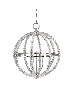 Hudson Valley Lighting Large Danville Five Light Hanging Ceiling Circle Pendant  Available in Two Finishes