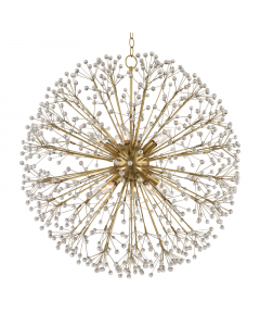 Hudson Valley Lighting Large Dunkirk Ten Light Crystal Branches Chandelier Available in Two Finishes