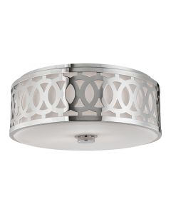 Hudson Valley Lighting Large Genesee Ceiling Three Light Flush Mount with Scroll Design -   Available in Bronze, Nickel, Brass