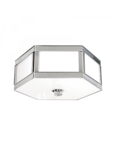 Hudson Valley Lighting Large Nassau Hexagonal Ceiling Flush Mount  Available in Four Finishes