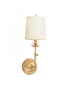 Hudson Valley Lighting Logan One Light Adjustable Wall Sconce with Hard Back Shade - Available in Three Finishes
