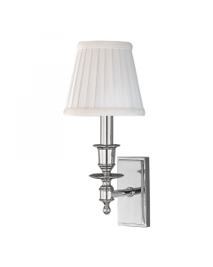 Hudson Valley Lighting Ludlow One-Light Wall Sconce with Pleated Shade  Available in Five Finishes