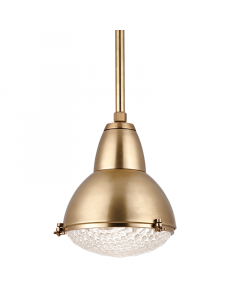 Hudson Valley Lighting Medium Belmont Hanging Ceiling Pendant with Prismatic Glass  Available in Four Finishes