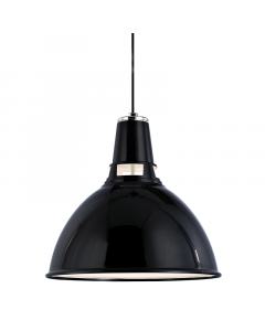 Hudson Valley Lighting Large Lydney Metal Shaded Hanging Ceiling Pendant  Available in Three Finishes