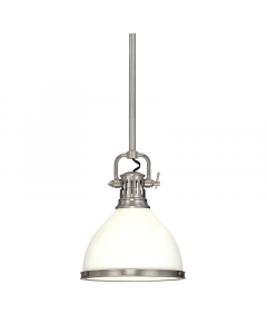 Hudson Valley Lighting Medium Randolph Adjustable Opal Glass Dome Pendant  Available in Four Finishes