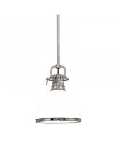 Hudson Valley Lighting Large Randolph Adjustable Opal Glass Dome Pendant  Available in Four Finishes