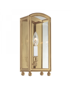 Hudson Valley Lighting Millbrook One Light Candelabra in Glass Frame Wall Sconce  Available in Four Finishes