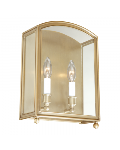Hudson Valley Lighting Millbrook Two Light Candelabra in Glass Frame Wall Sconce  Available in Four Finishes