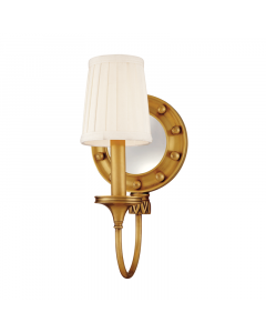 Hudson Valley Lighting Regent Marine One Light Wall Sconce with Rounded Mirror and Rivet Heads  Available in a Variety of Finishes