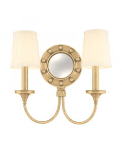 Hudson Valley Lighting Regent Marine Two Light Wall Sconce with Rounded Mirror and Rivet Heads  Available in a Variety of Finishes