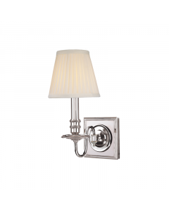 Hudson Valley Lighting Sheldrake One Light Wall Sconce with Pleated Shade  Available in a Variety of Finishes