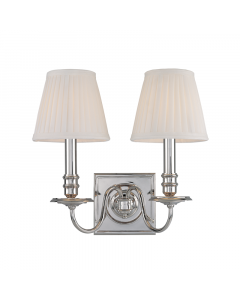 Hudson Valley Lighting Sheldrake Two Light Wall Sconce with Pleated Shades  Available in a Variety of Finishes