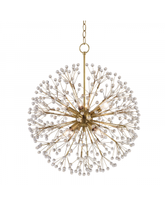 Hudson Valley Lighting Small Dunkirk Eight Light Crystal Branches Chandelier Available in Two Finishes