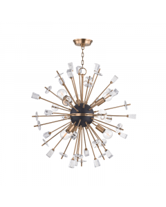 Hudson Valley Lighting Small Liberty Starburst Chandelier  Available in Two Finishes