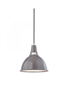 Hudson Valley Lighting Small Lydney Metal Shaded Hanging Ceiling Pendant  Available in Three Finishes
