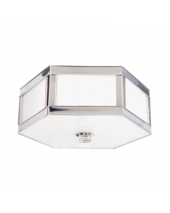 Hudson Valley Lighting Small Nassau Hexagonal Ceiling Flush Mount  - Available in Four Finishes - CALL TO CONFIRM AVAILABILITY