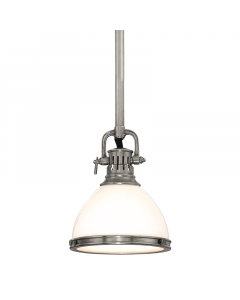 Hudson Valley Lighting Small Randolph Adjustable Opal Glass Dome Pendant  Available in Four Finishes