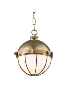 Hudson Valley Lighting Small Sumner Hanging Globe Ceiling Pendant – Available in Three Finishes