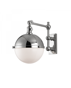 Hudson Valley Lighting Stanley One Light Half Metal Half Glass Orb Wall Sconce  Available in Four Finishes
