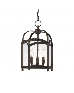Hudson Valley Lighting Three Light Candelabra Glass Frame Lantern -   Available in Four Finishes