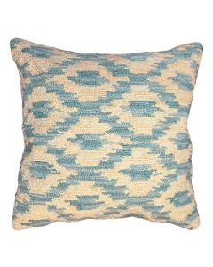 Ikat Peacock Hooked Pillow