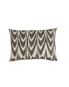 Lacefield Designs Ikat Scallop Grey Lumbar Pillow