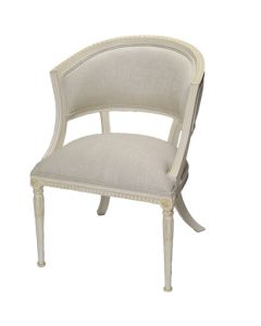 French Ingrid Chair with Linen Upholstery