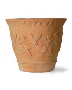 Ivy Pattern Garden Pot in a Terracotta Finish - Available in 4 Sizes
